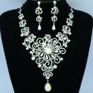 Swarovski Crystals H-Quality Clear Peafowl Peacock Necklace Earring Set SN2788-4