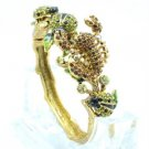 Vintage Style Swarovski Crystals Green Ladybug Scorpion Bracelet Bangle SKCA1799