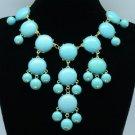 Fashion Dangle Acrylic Resin Bead Necklace Pendant W/ Gold Tone