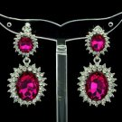 Pretty 8 Colors Dual Oval Rhinestone Crystals Pierced Dangle Earring 122115