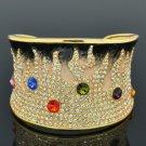 H-Quality Clear Swarovski Crystals Enamel Flame Bracelet Bangle Cuff SKA1963M-4