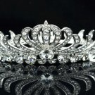 Round Flower Clear Swarovski Crystal Bridesmaid Bride Bridal Tiara Crown SH8563a