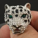 Swarovski Crystals Animal Leopard Panther Cocktail Ring Size 7#,8#,9# SR1695-2