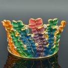 H-Quality Enamel Seaweed Bracelet Bangle Cuff W/ Swarovski Crystals SKA1951M-4