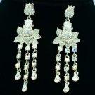 Wedding Swarovski Crystal Dangle Flower Pierced Earring w/ High Quality SE0813-3