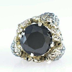 Vivid Animal Black Cute 3 Scorpion Cocktail Ring 6# W/ Swarovski Crystals