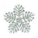 "Popular Clear Snowflake Brooch Pin 2.4"" Rhinestone Crystals For Wedding 8803"