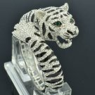 Swarovski Crystals H-Quality Animal Clear Tiger Bracelet Bangle Cuff SKCA1947M-1