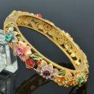 Ladybug Butterfly Flower Bracelet Bangle W/ Mix Swarovski Crystals SKCA1404M-3