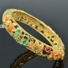 Ladybug Butterfly Topaz Flower Bracelet Bangle W/ Swarovski Crystals SKCA1404M-2