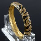 H-Quality Light Peach Tiger Grain Bracelet Bangle Swarovski Crystal 17052
