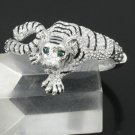 High Quality Animal Clear Swarovski Crystals Tiger Bracelet Bangle SKCA1419M-1