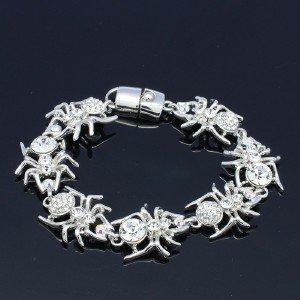 High Quality 7 Tarantula Spider Bracelet Bangle W/ Swarovski Crystals 5 Color