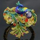 Excellent Peafowl Peacock Bird Bracelet Bangle W/ Swarovski Crystals SKC1612