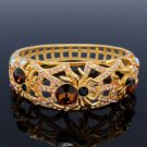 H-Quality Tarantula Spider Bracelet Bangle W/ Topaz Swarovski Crystal SKCA1731-2