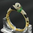High Quality Animal Clear Swarovski Crystals Panda Bracelet Bangle JKC0937