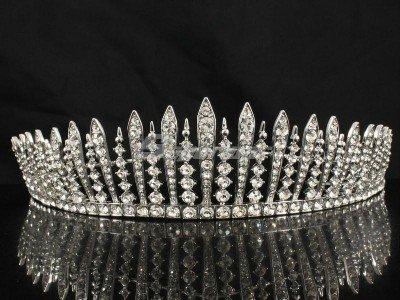 Bridesmaid Bridal Tiara Crown W/ Clear Swarovski Crystals For Wedding JH7758
