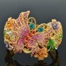 High Quality Flower Butterfly Bracelet Bangle W/ Swarovski Crystals SKCA1760M-2