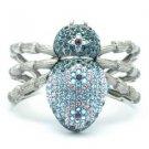 Swarovski Crystals Blue Spider Tarantula Cuff Bracelet Bracelet  SKA2131M-1