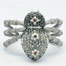 Swarovski Crystals Black Spider Tarantula Cuff Bracelet Bracelet  SKA2131M-1