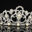 Swarovski Crystals Imitation Pearl Bridal Wedding Tiara Crown Head Pieces