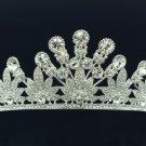 Pretty Wedding Flower Tiara Crown Headbands W/ Clear Swarovski Crystals SHA8598