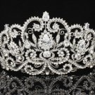 Beautiful Flower Tiara Crown 4 Wedding Bridal Clear Swarovski Crystals JH8382