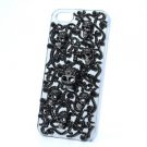 Halloween Black Crystals Cross Skeleton Skull Cover Case Shell For iPhone 5 5S