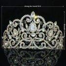 Bridal Tiara Crown Wedding Jewelry W/ Clear A/B Rhinestone Crystals 0608