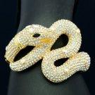 High Quality Animal Boa Snake Bracelet Bangle w/ Clear Swarovsik Crystal 3 Color