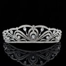 Wedding Bridal VTG Style Rhinestone Crystals Flowers Crown Headband Zircon1326R