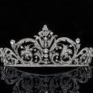 Chic Clear Rhinestone Crystal Bridal Wedding Flower Tiara Crown Headband XBY158