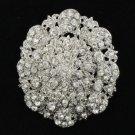 Wedding Birdal Flower Brooch Broach Pins Jewelry Clear Rhinestone Crystals 3808