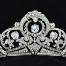 Excellent Bridal Clear Flower Tiara Crown Headbands Rhinestone Crystals 24356R