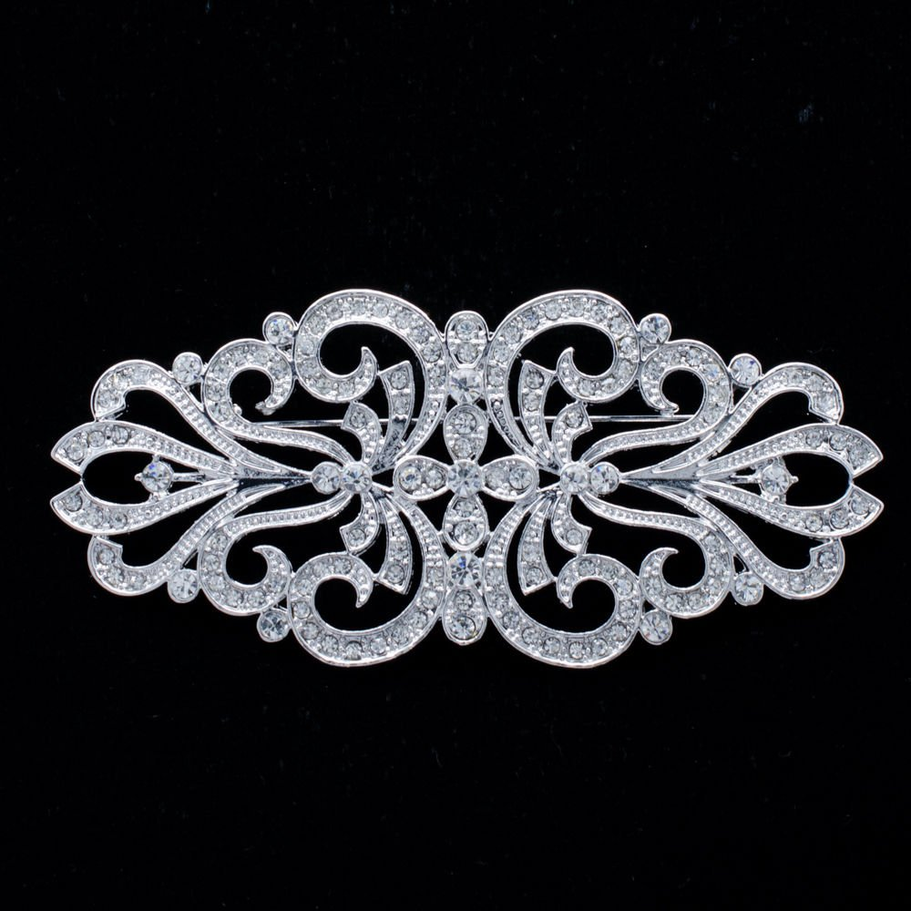 Smart Palace Style Flower Brooch Broach Pins Rhinestone Crystals Jewelry XBY070