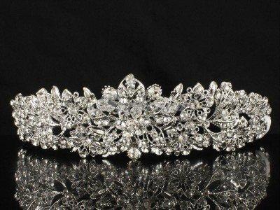 Swarovski Crystal Wedding Bridal Flower Tiara Crown Hair Accessories JHA4714-6