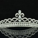 Compact Flower Tiaras Crown Wedding Bridal Hair Clear Rhinestone Crystals 41332R