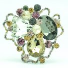 Chic Mix Cloud Flower Brooch Pin Women Spring Jewelry Rhinestone Crystal 8806457