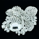 Wedding Bride Sparkling Butterfly Brooch Pin Rhinestone Crystals Insect 6407