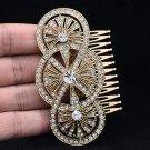 Vintage Style Wedding Bridal Flower Hair Comb Jewelry Rhinestone Crystals XBY067