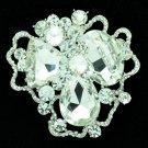 Rhinestone Crystals Cloud Flower Brooch Pin Women Bridal Wedding Jewelry 8806457