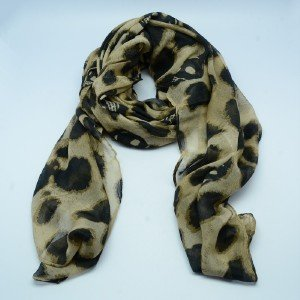 Fashion Beiges Print Neck Circle Scarf Black Skull Shawl Wrap Lady Scarves