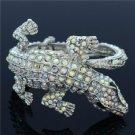 Crocodile Alligator Bracelet Bangle Cuff  Clear Rhinestone Crystal