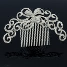 Big Flower Comb Headbands With Clear Rhinestone Crystal For Women Jewelry XBY074