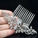 Clear Zircon Flower Hair Comb Bridal Hair Accessories Rhinestone Crystals 214012