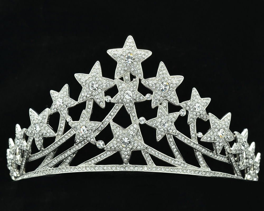 Swarovski Crystals Excellent Multi Stars Tiaras Crown Bridal Accessories SHA8601