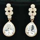 Luxury Bridal Bridesmaid Tear Drop Earring W/ CZ Zircon Rhinestone Crystal 20662