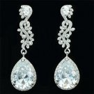 Bridal Bridesmaid Drop Dangle Pierced Earring Clear Rhinestone Crystal 20528