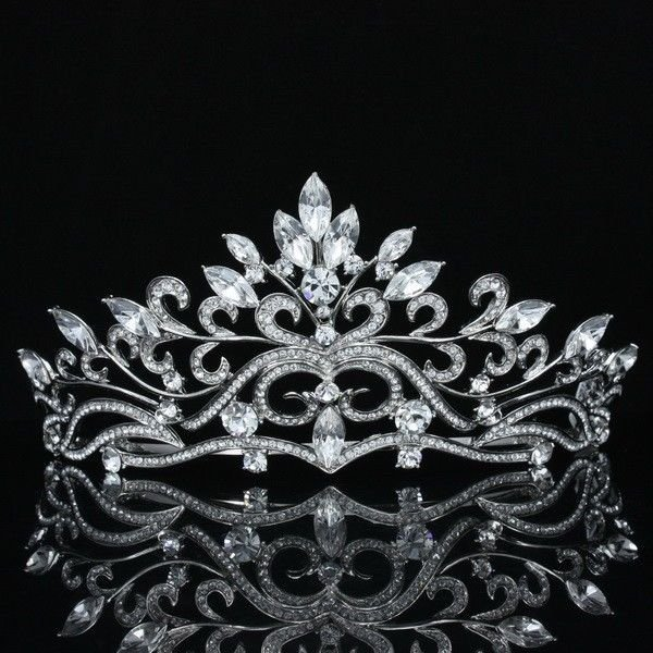 Bridal Flower Tiara Crown Hair Accessories Wedding Swarovski Crystals SH8569