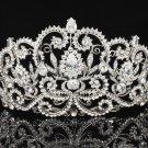 Amazing Wedding Flower Tiara Crown Wedding Bridal Clear Swarovski Crystals 8382B